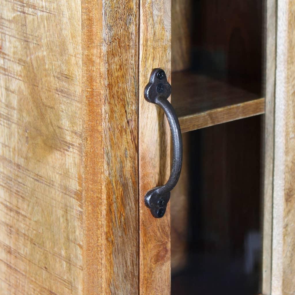 Vidaxl mueble de lavabo y espejo y 2 armarios laterales for Mueble lavabo madera
