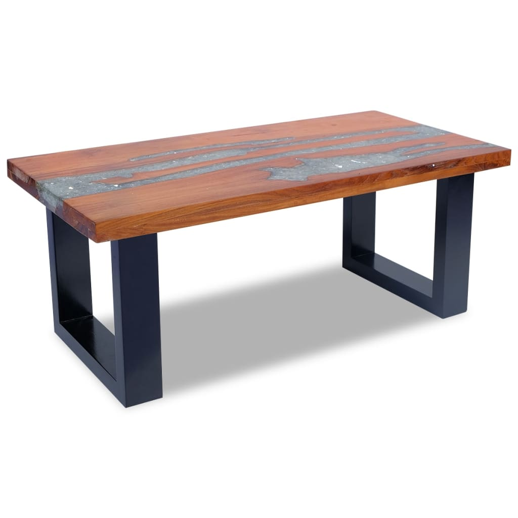 Vidaxl Coffee Table Teak Resin 100x50 Cm