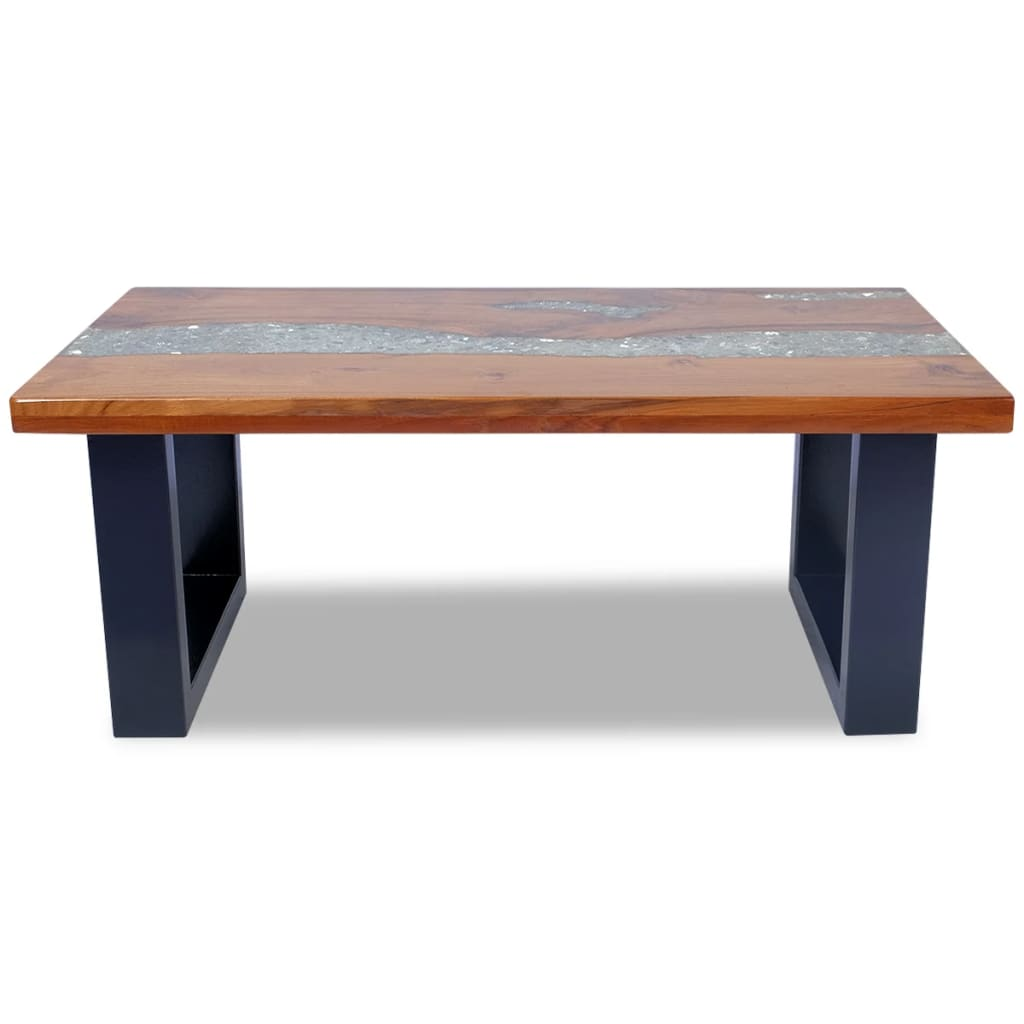 Vidaxl Coffee Table Teak Resin 100x50 Cm