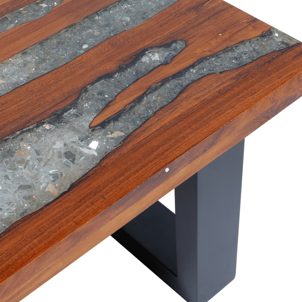 vidaxl coffee table teak resin 100x50 cm. Black Bedroom Furniture Sets. Home Design Ideas