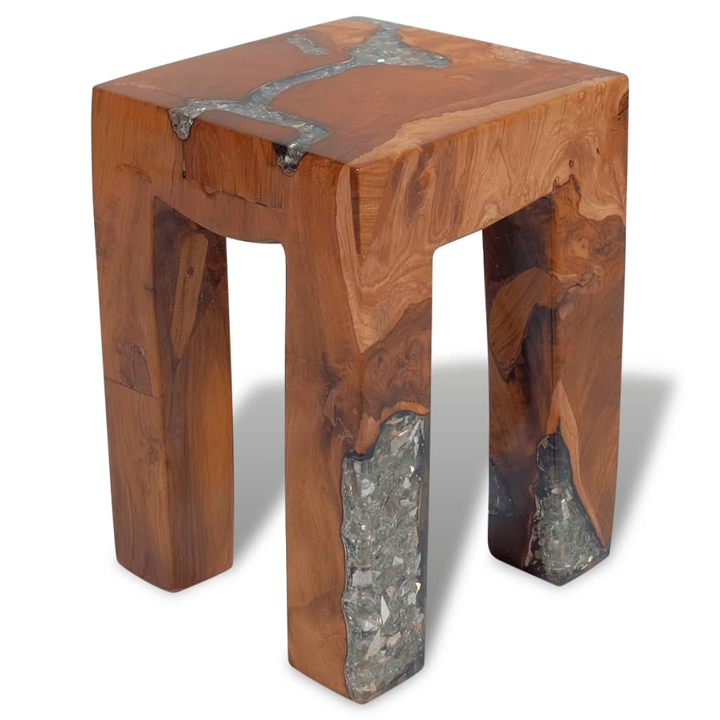 Vidaxl Co Uk Vidaxl Stool Teak Resin 30x30x40 Cm