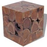 vidaXLi taburet tiigipuidust 40 x 40 x 45 cm