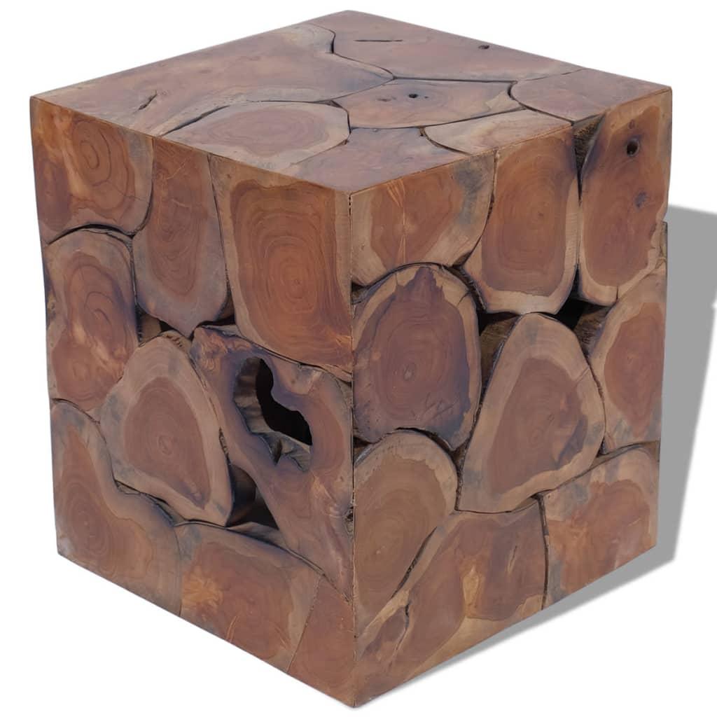 vidaXL Taboret z drewna tekowego 40x40x45 cm