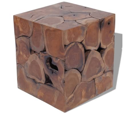 vidaXL Solid Teak Wood Side Coffee Table Teakwood Stool Plant ...
