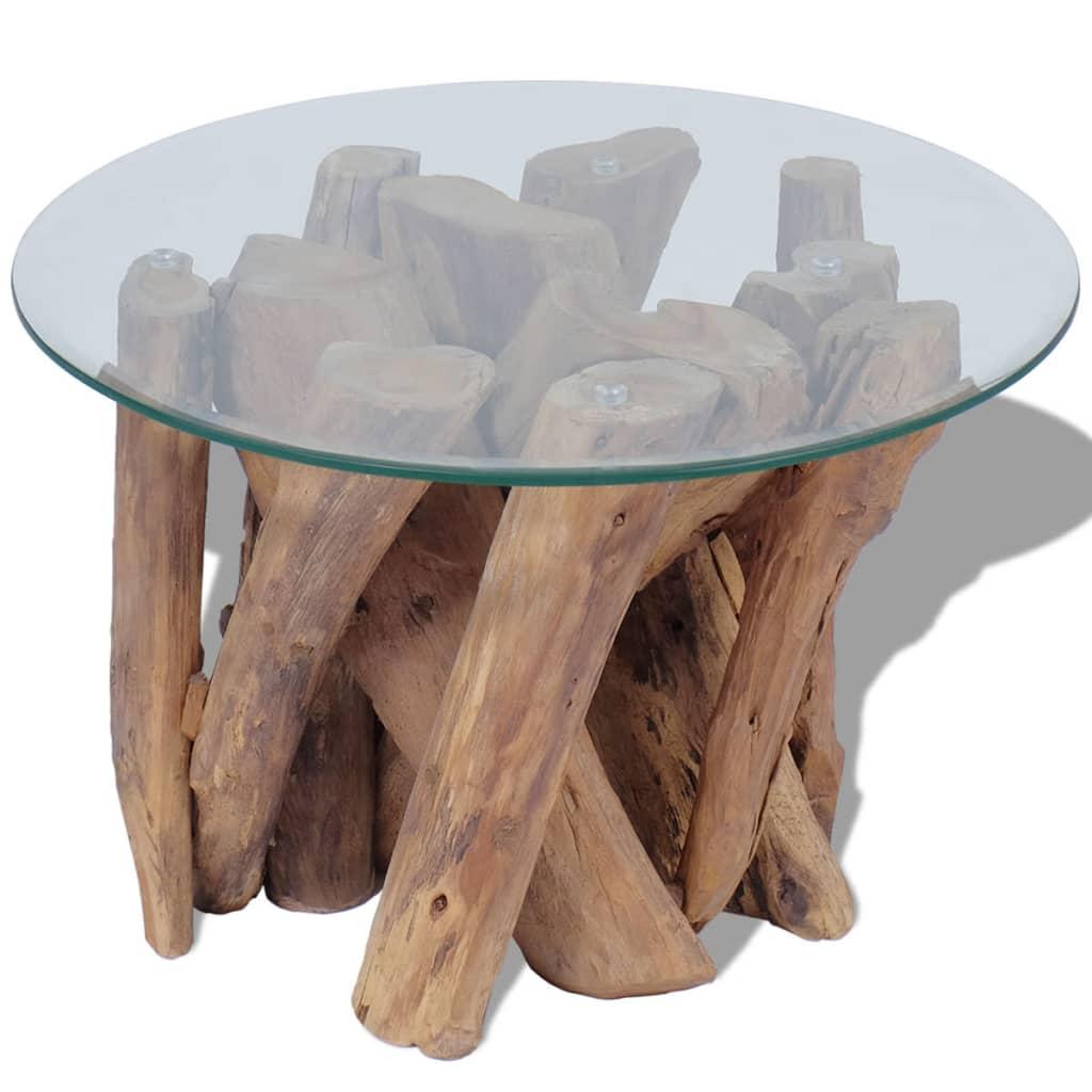 vidaXL 60 cm tömör tíkfa dohányzóasztal