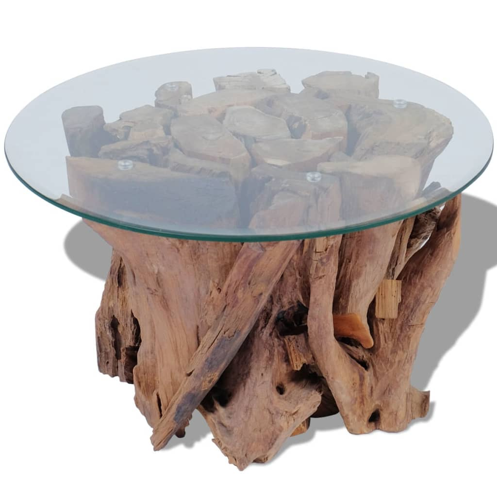 Vidaxl coffee table solid teak 60 cm Solid teak coffee table