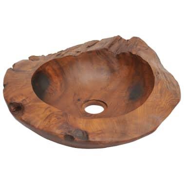 vidaXL Umývadlo z masívneho teakového dreva, 45 cm[3/7]