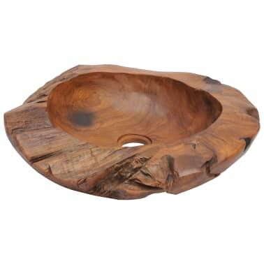 vidaXL Umývadlo z masívneho teakového dreva, 45 cm[2/7]