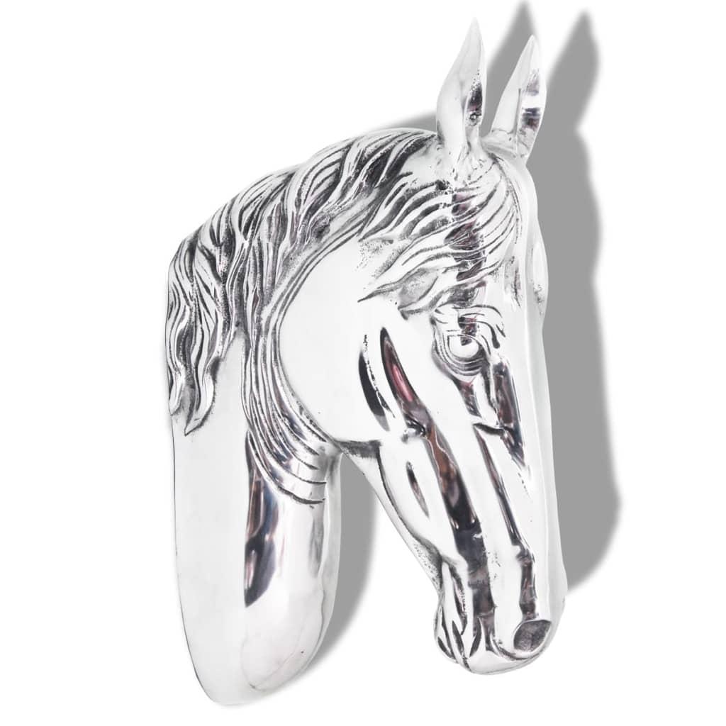 Afbeelding van vidaXL Paardenhoofd muurdecoratie aluminium zilver