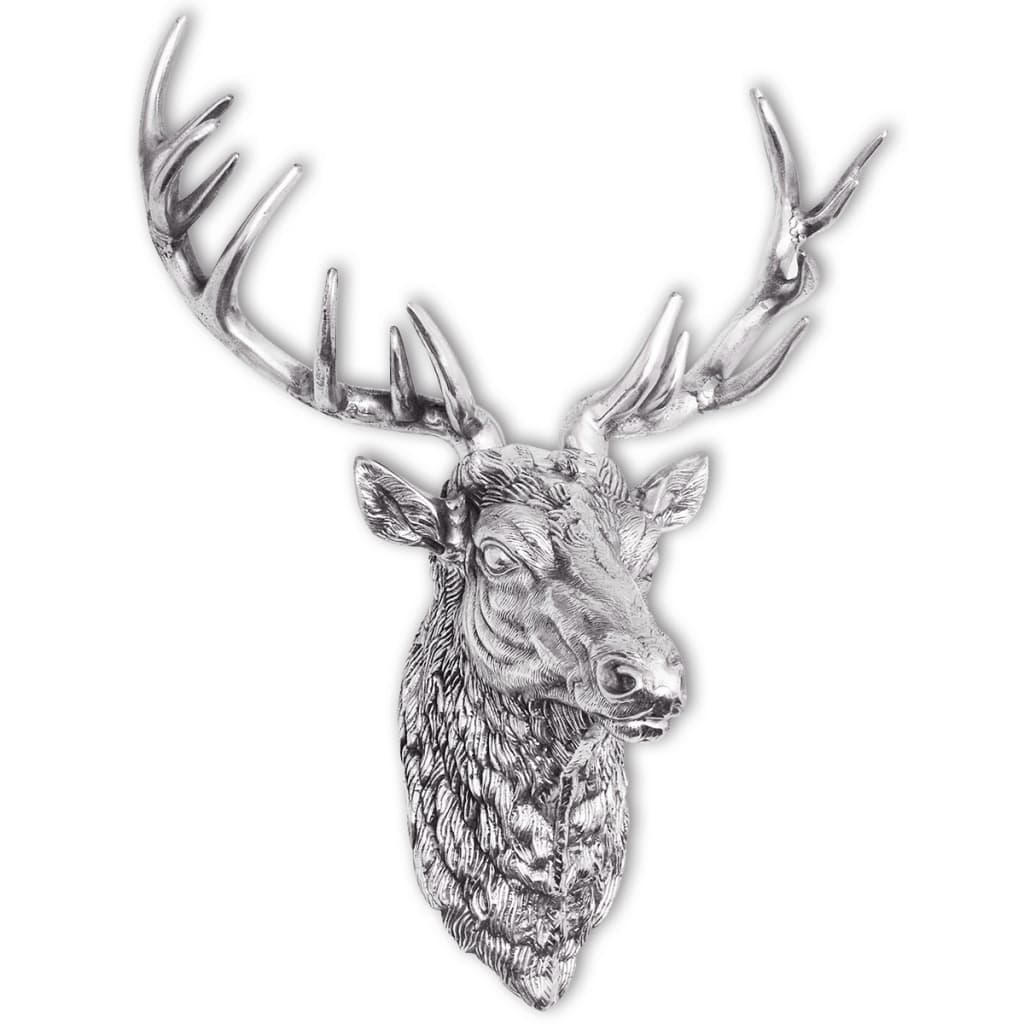 Vidaxl deer head decoration wall mounted for Aluminium decoration