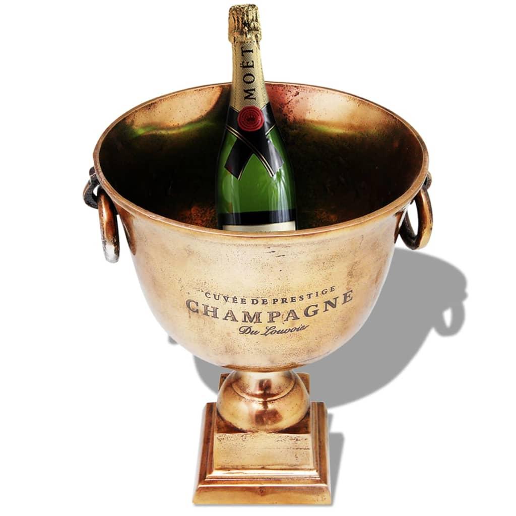 Vidaxl trofeo coppa champagne cooler rame marrone for Giardino trofeo