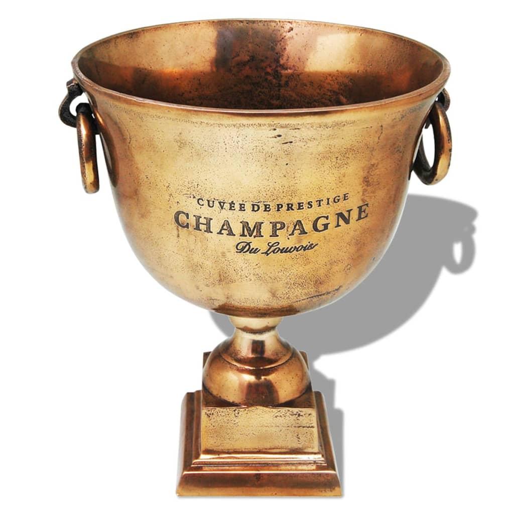 Afbeelding van vidaXL Prijzenbeker champagnekoeler koperbruin