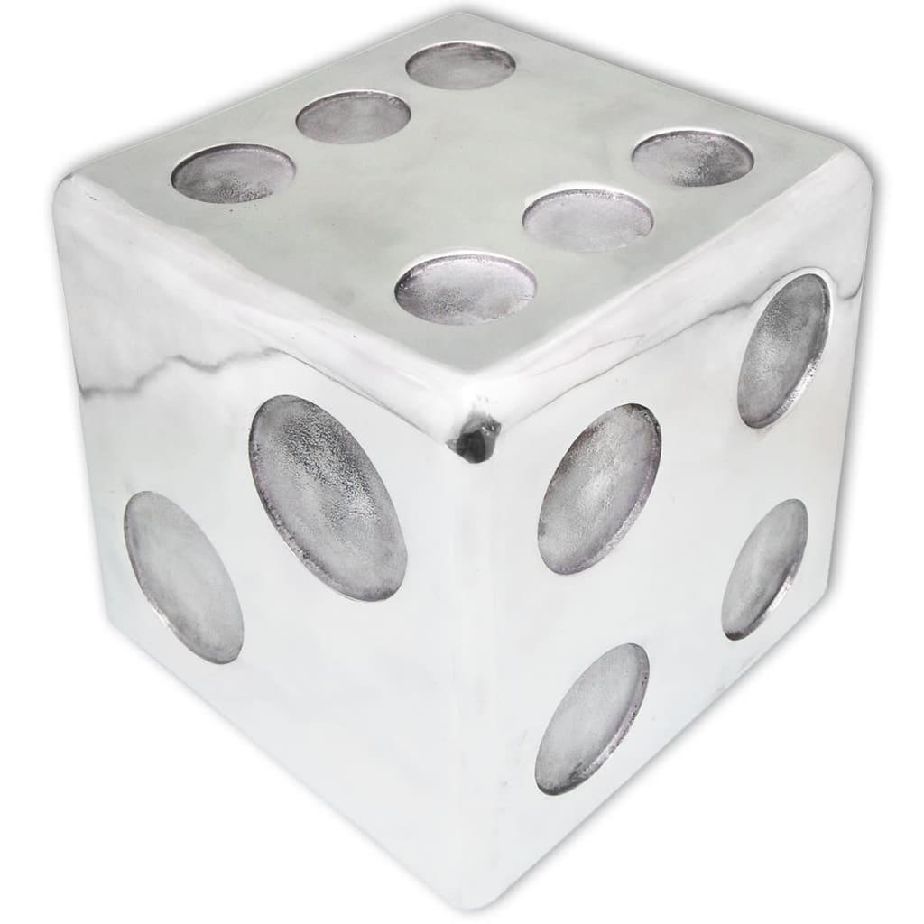vidaXL 243506 dobókocka alakú zsámoly/kisasztal alumínium ezüst