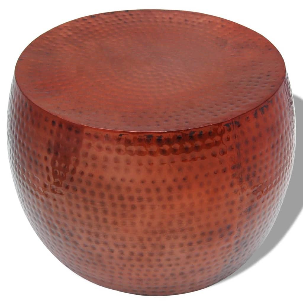 Vidaxl mesa de centro redonda aluminio con acabado de cobre marr n - Mesas de centro redondas amazon ...
