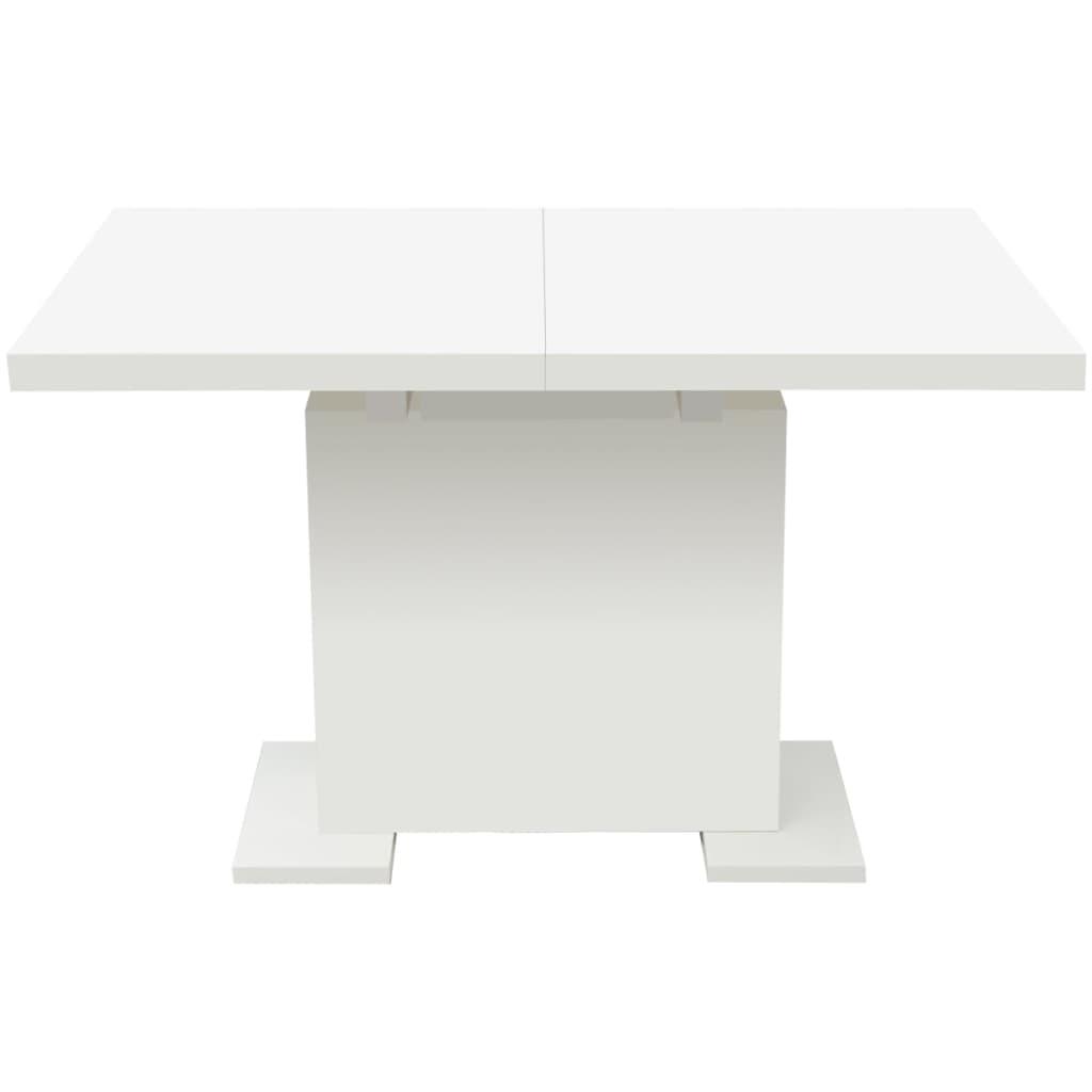 Vidaxl tavolo da pranzo estensibile bianco lucido - Tavolo da pranzo bianco ...