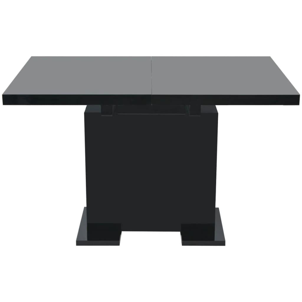 vidaxl ausziehbarer esstisch hochglanz schwarz. Black Bedroom Furniture Sets. Home Design Ideas