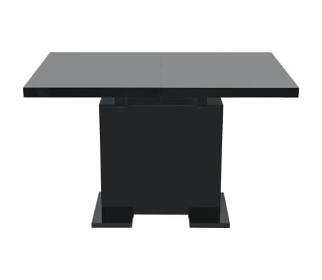 vidaxl ausziehbarer esstisch hochglanz schwarz im vidaxl trendshop. Black Bedroom Furniture Sets. Home Design Ideas