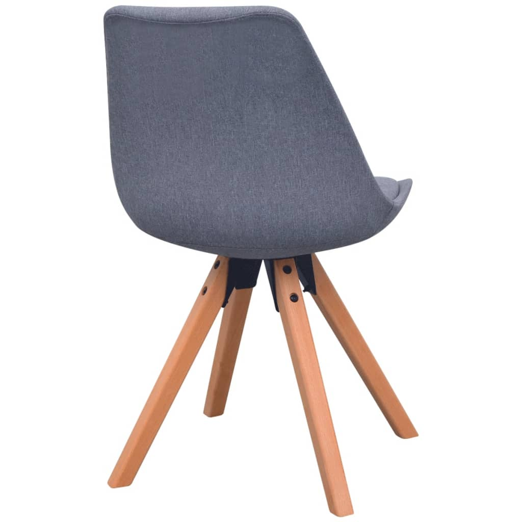 Vidaxl sillas de comedor 2 unidades tela gris claro for Sillas de comedor grises