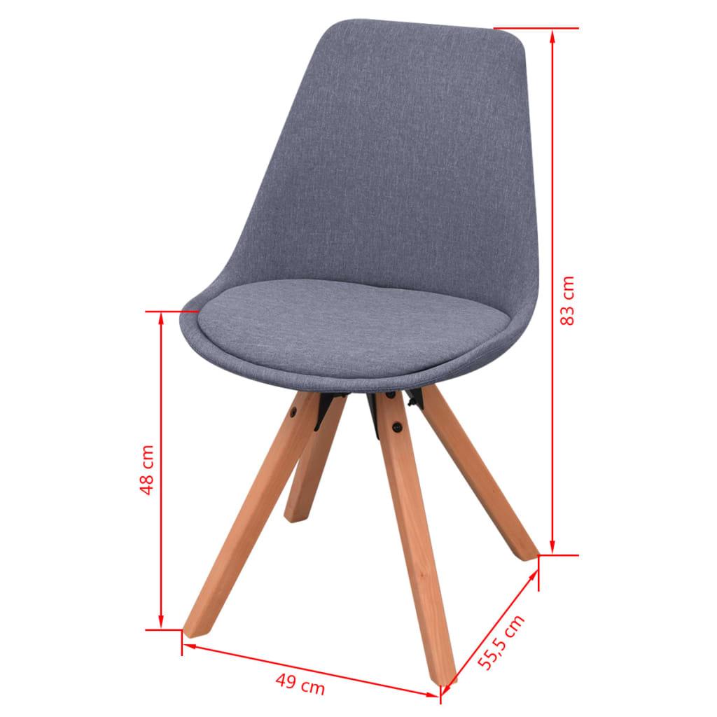 Vidaxl sillas de comedor 2 unidades tela gris claro - Vidaxl sillas ...