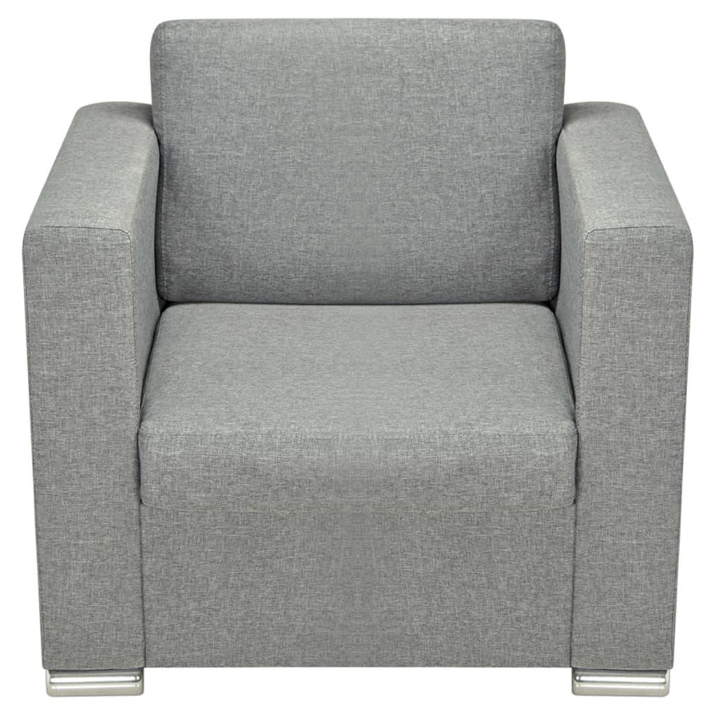 VIDAXL FAUTEUIL POUR salon bureau chambre Sofa canapé Tissu Gris ...