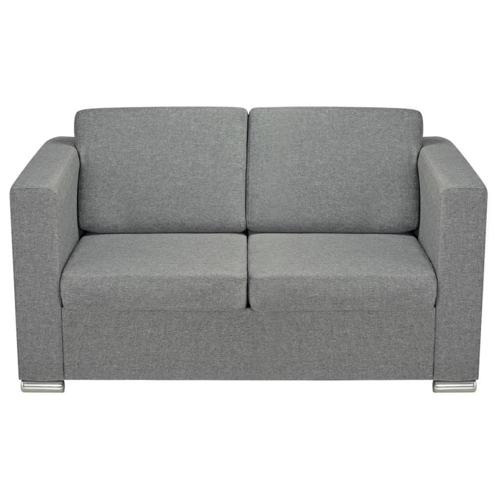Vidaxl divano a 2 posti in stoffa grigio chiaro - Divano grigio chiaro ...