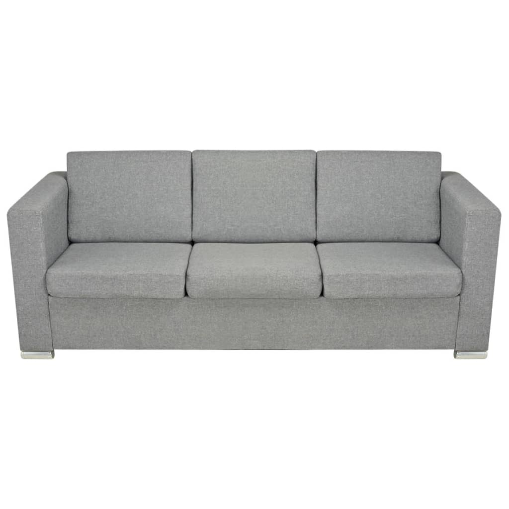 Der vidaxl 3 sitzer sofa stoff hellgrau online shop for Sofa 4 sitzer landhausstil
