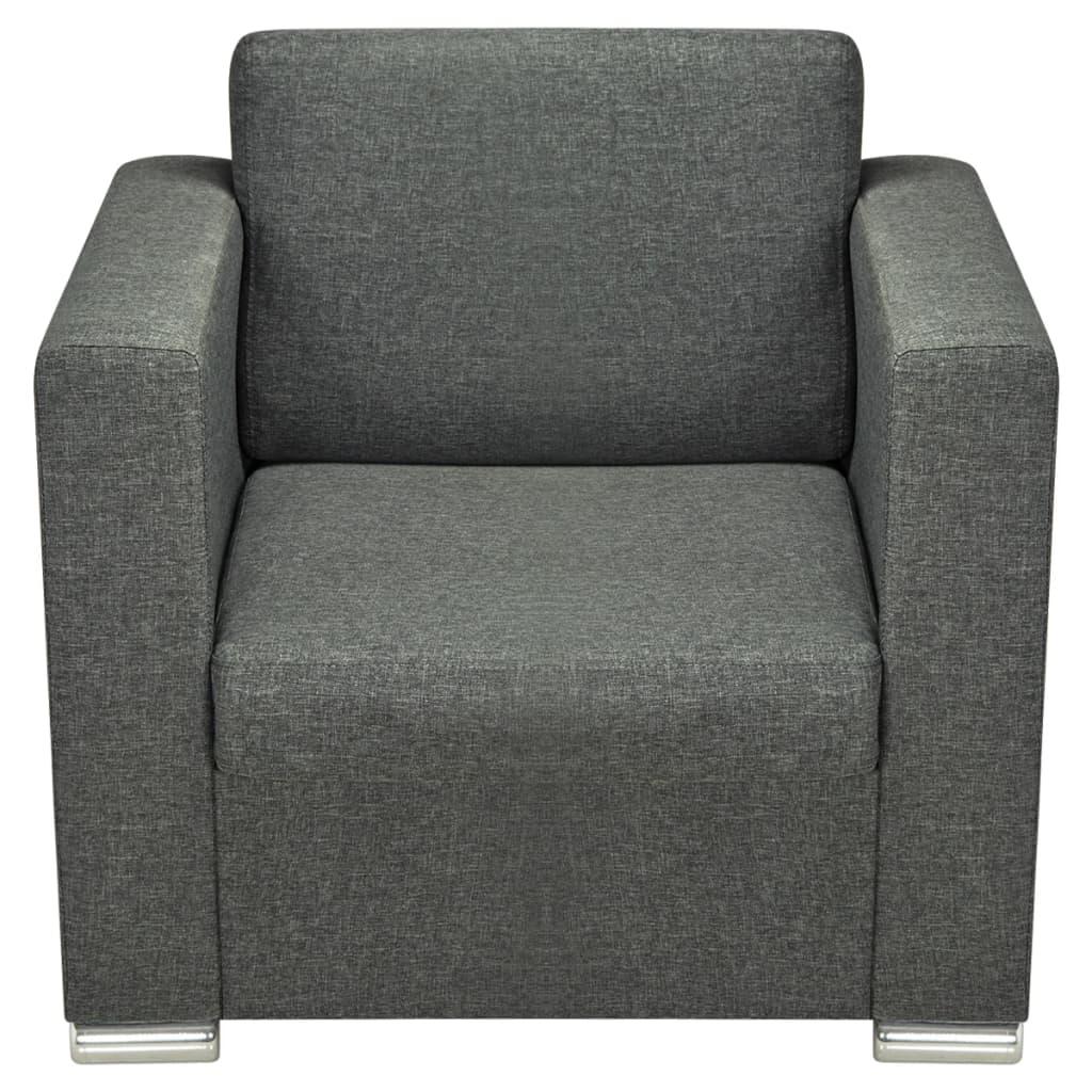 acheter vidaxl fauteuil tissu gris fonc pas cher. Black Bedroom Furniture Sets. Home Design Ideas