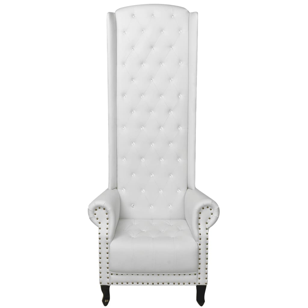 vidaxl luxus hochlehner sessel relaxsessel stuhl kunstleder wei 77x65x181 cm ebay. Black Bedroom Furniture Sets. Home Design Ideas