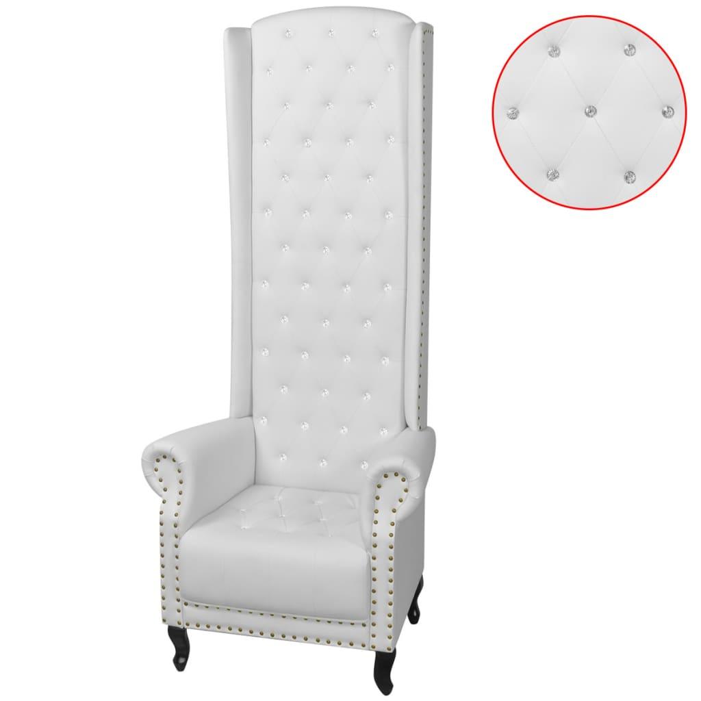 vidaXL magas háttámlájú fotel fehér 77x65x181 cm