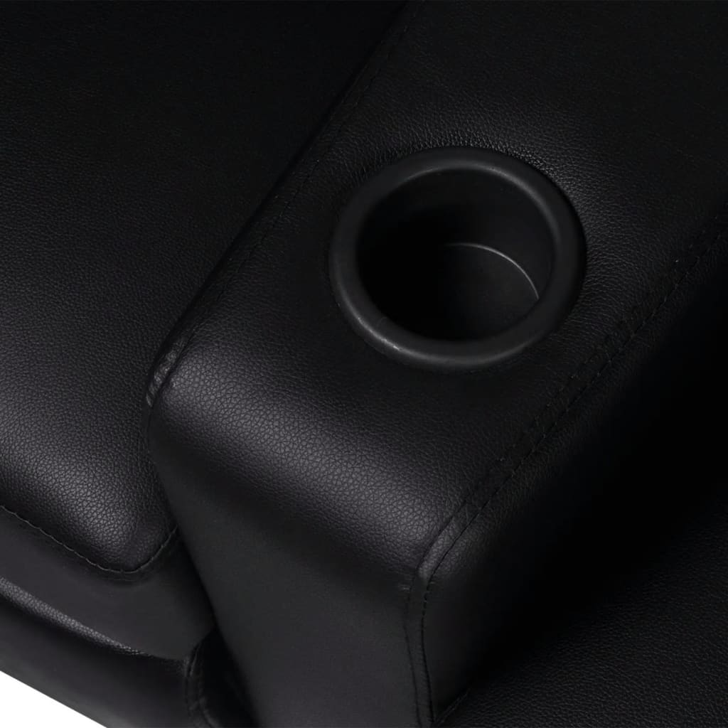 Acheter vidaxl fauteuil inclinable 2 places cuir for Fauteuil 4 places