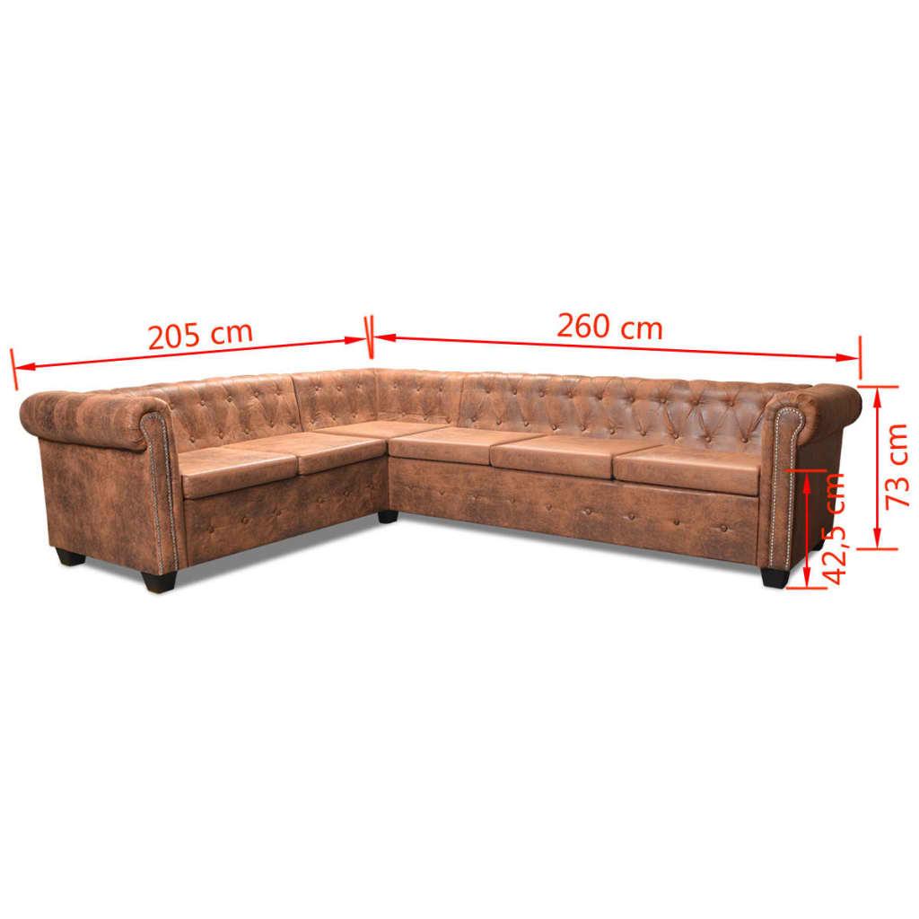 vidaXL-Sofa-Chesterfield-Esquina-6-Plazas-Cuero-Artificial-260x205x73-cm-Marron