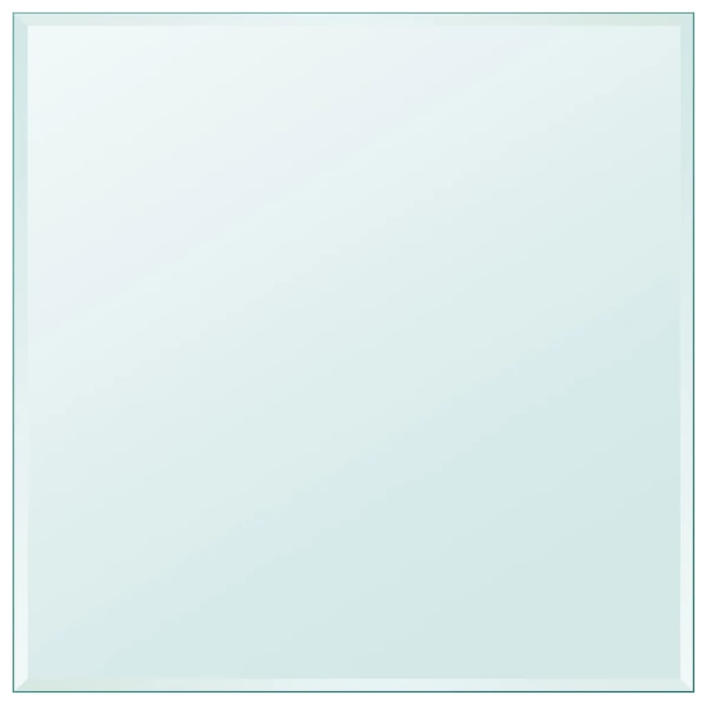 vidaXL edzett üveg asztallap négyszögletes 700x700 mm
