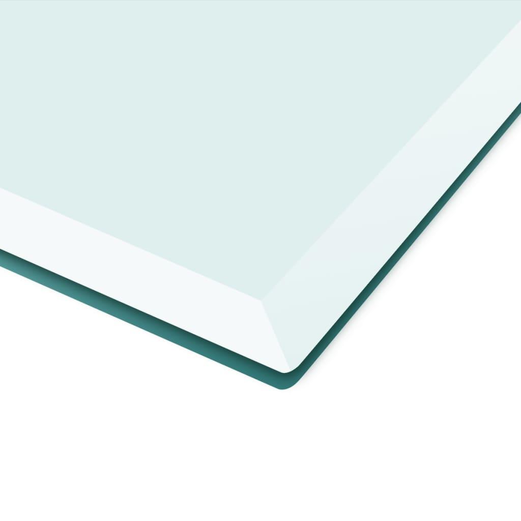 Acheter vidaxl dessus de table rectangulaire en verre - Dessus de table en verre ...