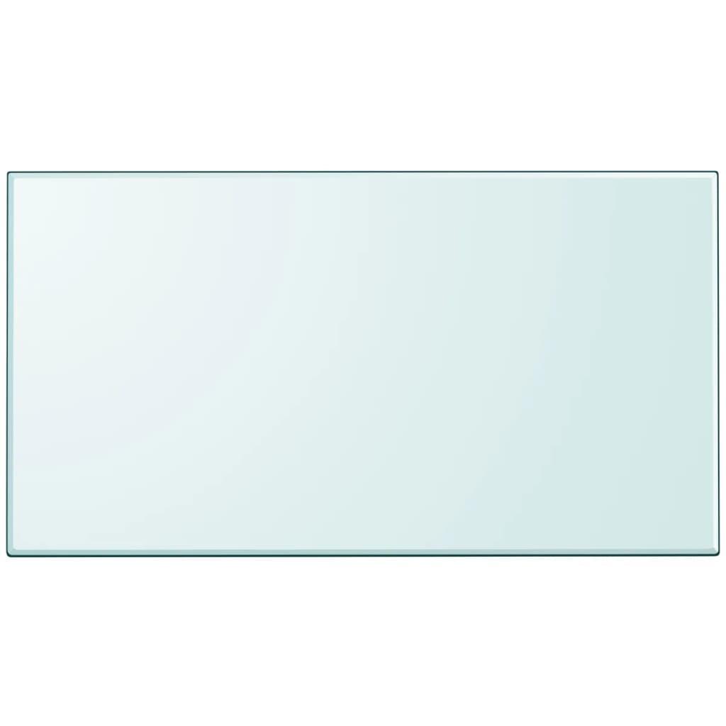 Vidaxl tischplatte aus geh rtetem glas rechteckig 1200x650 for Glas beistelltisch rechteckig