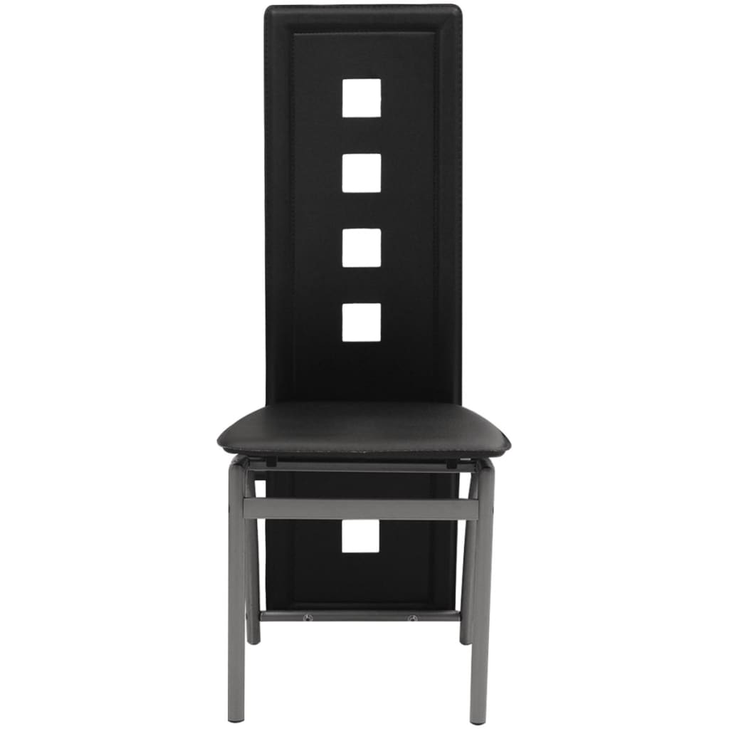 vidaxl esszimmerst hle 4 stk kunstleder schwarz g nstig kaufen. Black Bedroom Furniture Sets. Home Design Ideas