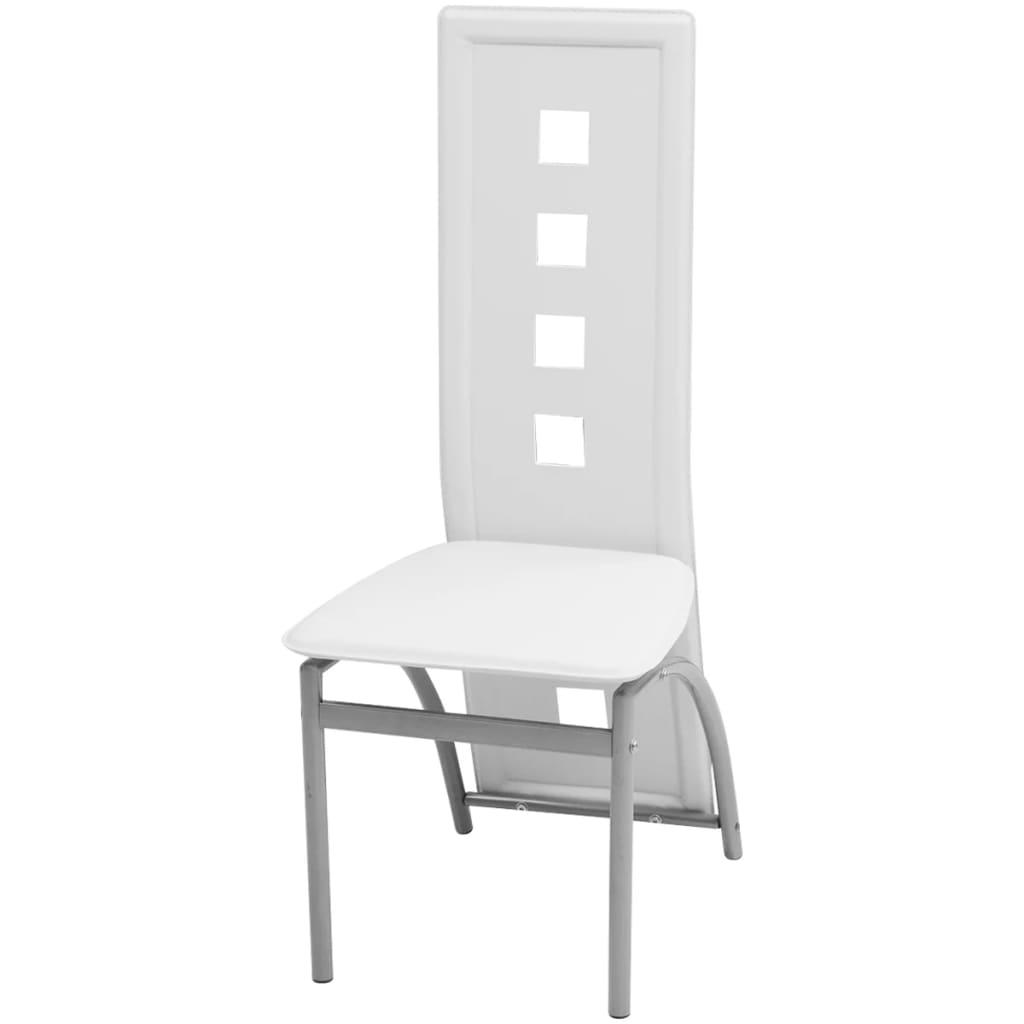 Acheter vidaxl chaises de salle manger 4 pcs cuir for Acheter chaises de salle a manger