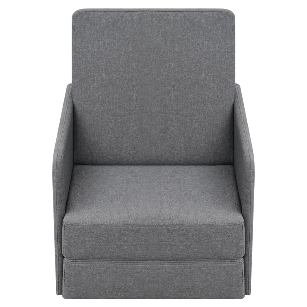 acheter vidaxl fauteuil convertible 59 5 x 72 x 72 5 cm tissu gris clair pas cher. Black Bedroom Furniture Sets. Home Design Ideas