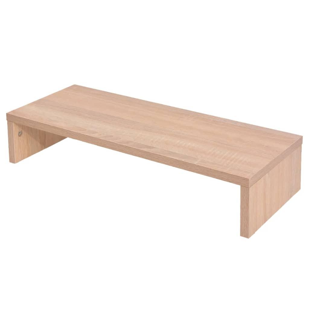 vidaXL monitorállvány forgácslap 60 x 23,5 12 cm bézs