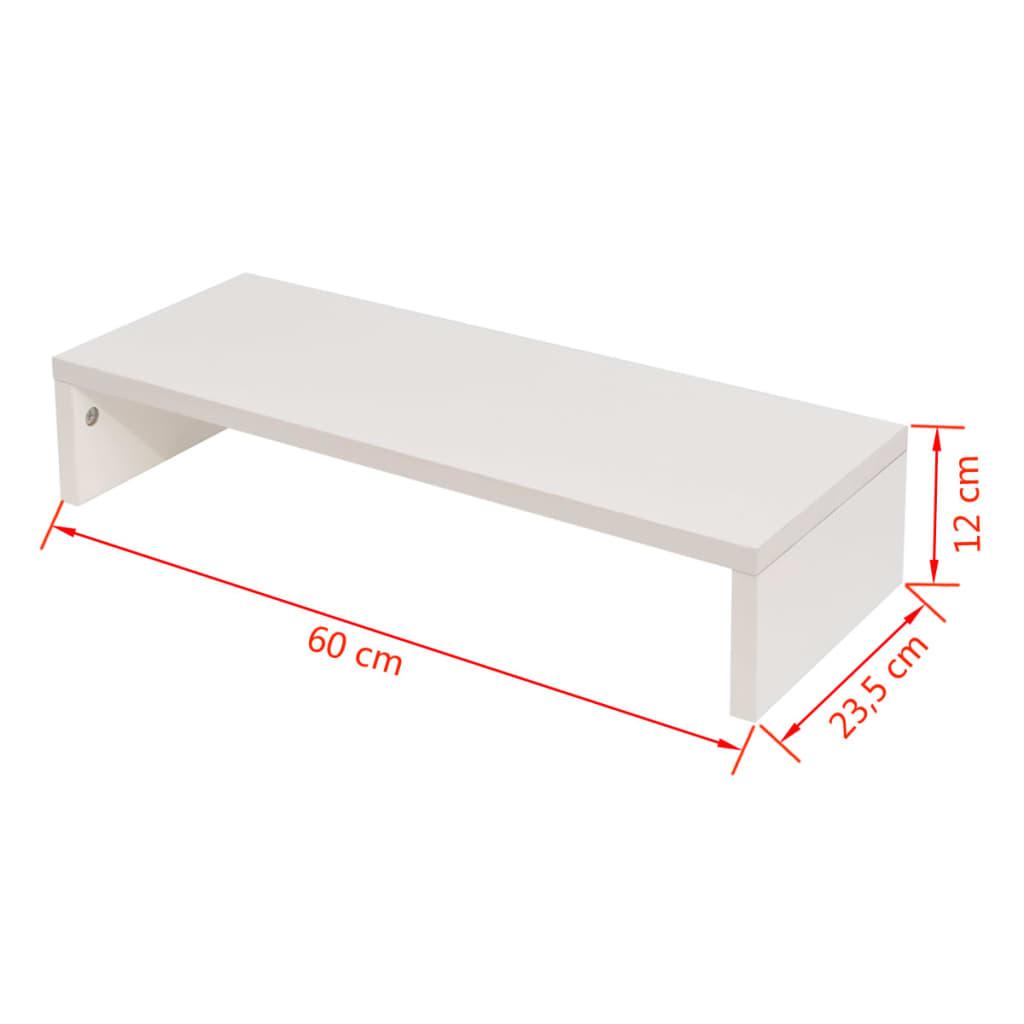vidaxl tv schrank spanplatte 60 x 23 5 x 12 cm wei g nstig kaufen. Black Bedroom Furniture Sets. Home Design Ideas
