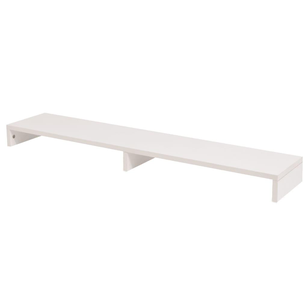 vidaXL Forgácslap monitor állvány 118x23,5x9 cm fehér