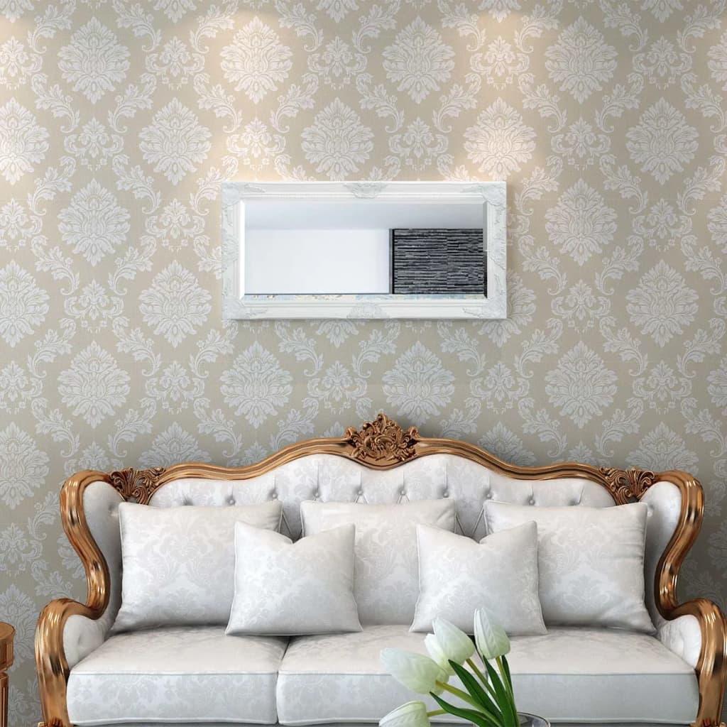 Vidaxl specchio da parete stile barocco 100x50 cm bianco - Specchio grande da parete ...