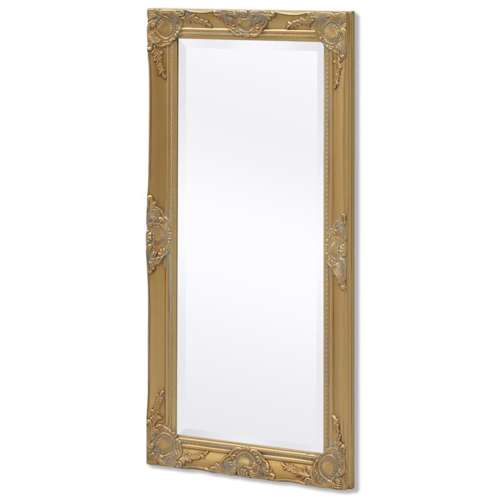 Acheter vidaxl miroir mural style baroque 100 x 50 cm dor pas cher for Miroir mural baroque