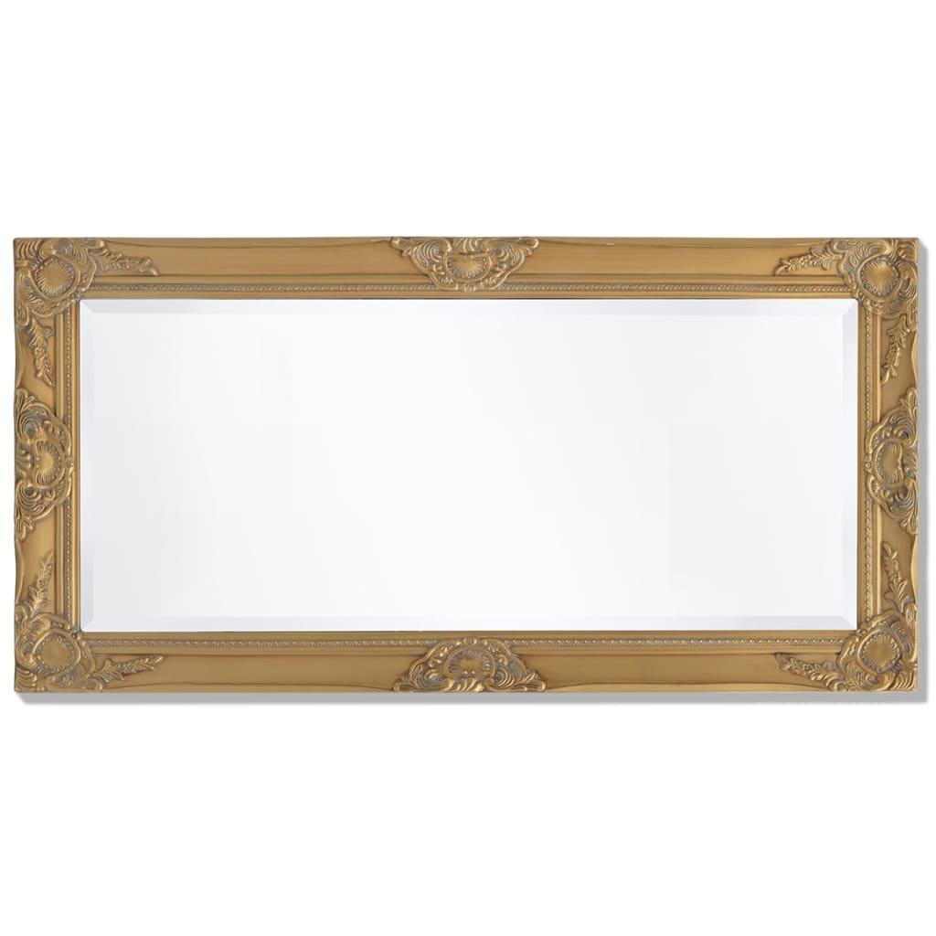 Acheter vidaxl miroir mural style baroque 100 x 50 cm dor pas cher for Miroir 50 x 90