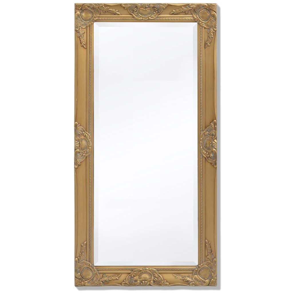 vidaXL barokk stílusú fali tükör 100x50 cm arany