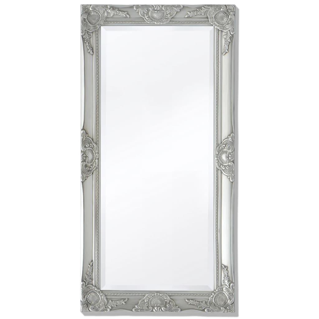 vidaXL Barokk stílusú fali tükör 100x50 cm ezüst