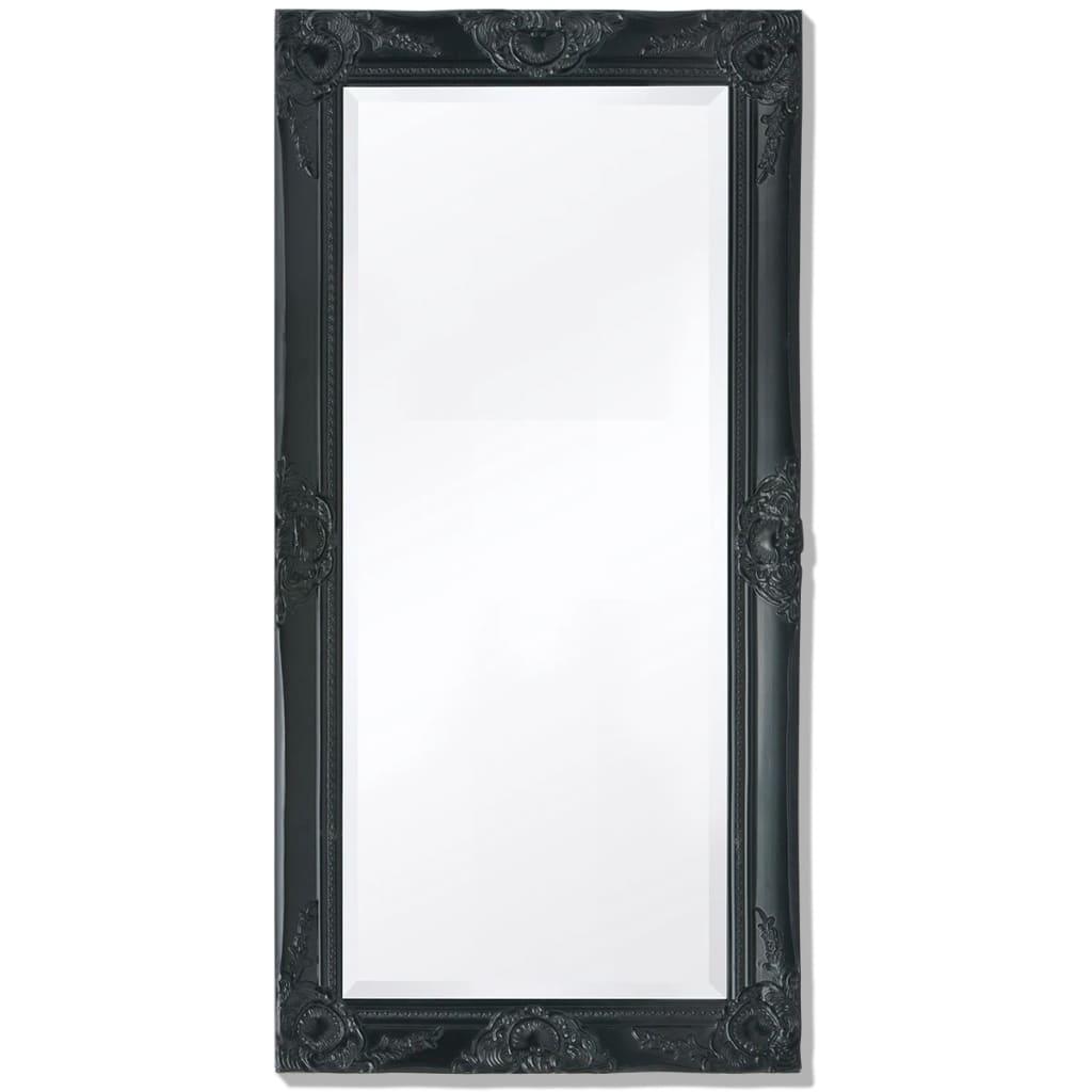 La boutique en ligne vidaxl miroir mural style baroque 100 for Miroir noir baroque