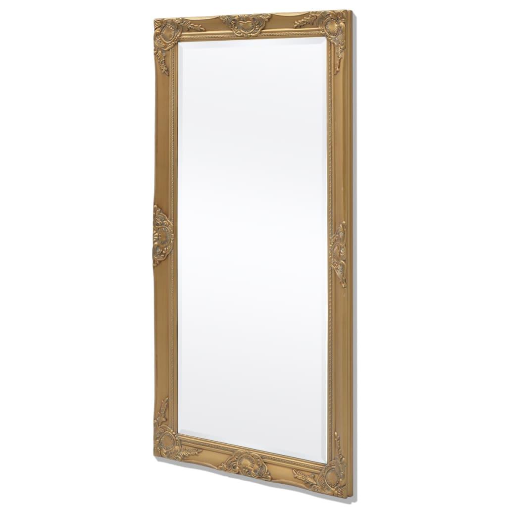 acheter vidaxl miroir mural style baroque 120 x 60 cm dor pas cher. Black Bedroom Furniture Sets. Home Design Ideas