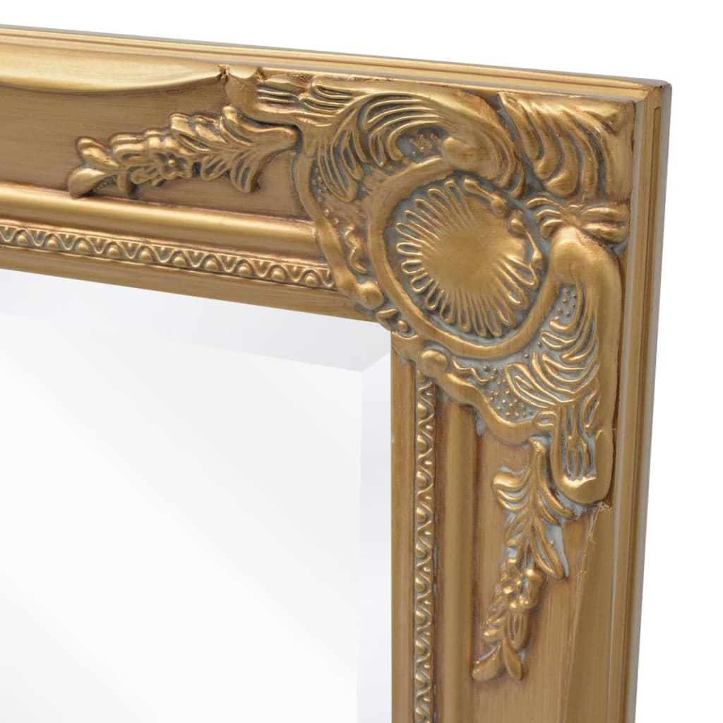 Vidaxl wandspiegel barok 120 x 60 cm goud online kopen for Wandspiegel barok