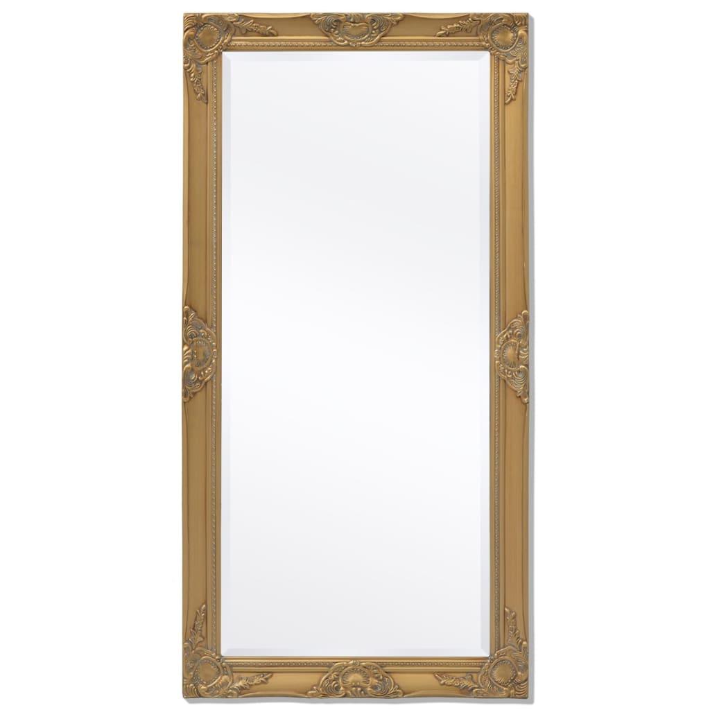 Vidaxl specchio da parete stile barocco 120x60 cm dorato for Specchio da parete 180 cm