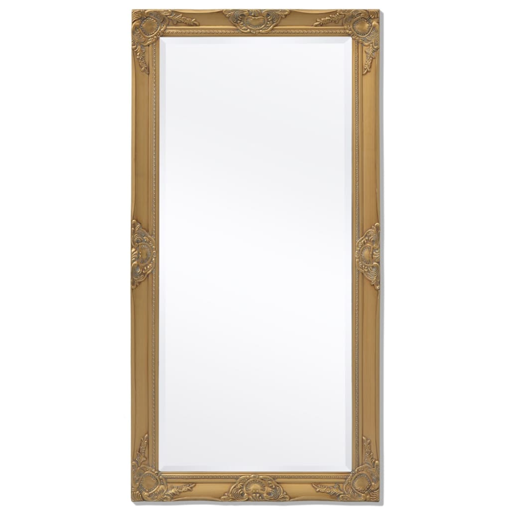 vidaXL Barokk stílusú fali tükör 120x60 cm arany